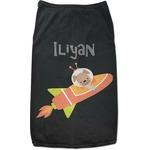 Space Explorer Black Pet Shirt (Personalized)
