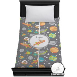Space Explorer Duvet Cover - Twin (Personalized)