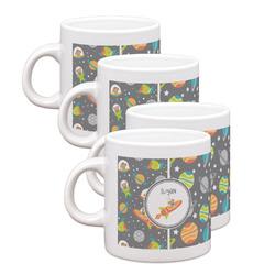 Space Explorer Espresso Mugs - Set of 4 (Personalized)