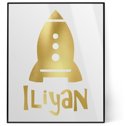 Space Explorer 8x10 Foil Wall Art - White (Personalized)