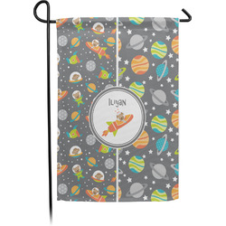 Space Explorer Garden Flag - Single or Double Sided (Personalized)