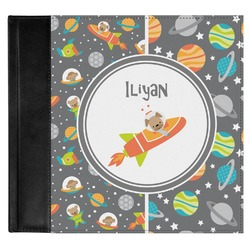 Space Explorer Genuine Leather Baby Memory Book (Personalized)
