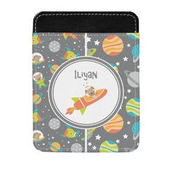 Space Explorer Genuine Leather Money Clip (Personalized)