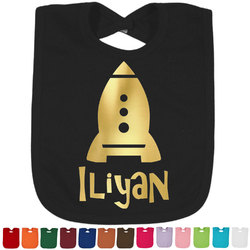 Space Explorer Foil Baby Bibs (Select Foil Color) (Personalized)