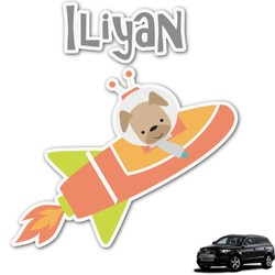 Space Explorer Graphic Car Decal (Personalized)