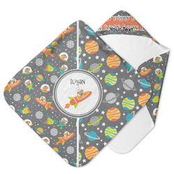 Space Explorer Hooded Baby Towel (Personalized)