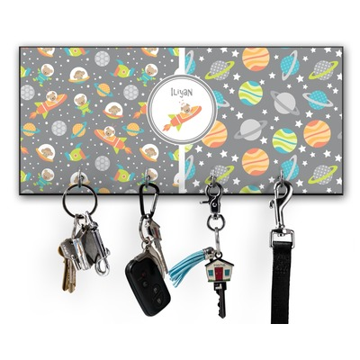 Space Explorer Key Hanger w/ 4 Hooks w/ Graphics and Text