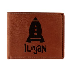 Space Explorer Leatherette Bifold Wallet (Personalized)