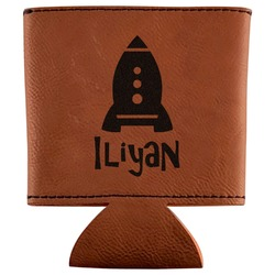 Space Explorer Leatherette Can Sleeve (Personalized)