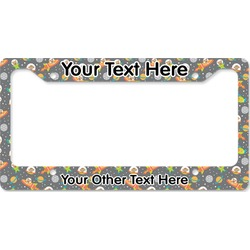 Space Explorer License Plate Frame (Personalized)