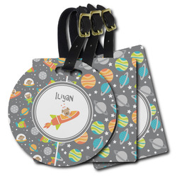 Space Explorer Plastic Luggage Tags (Personalized)