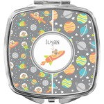 Space Explorer Compact Makeup Mirror (Personalized)