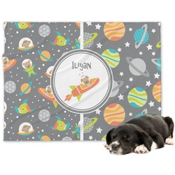 Space Explorer Dog Blanket (Personalized)