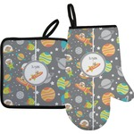 Space Explorer Oven Mitt & Pot Holder (Personalized)