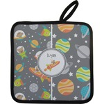 Space Explorer Pot Holder w/ Name or Text