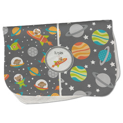 Space Explorer Burp Cloth - Fleece w/ Name or Text