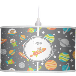 Space Explorer Drum Pendant Lamp Linen (Personalized)