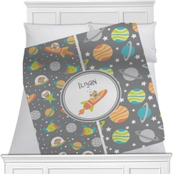 "Space Explorer Fleece Blanket - Twin / Full - 80""x60"" - Double Sided (Personalized)"