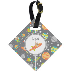 Space Explorer Diamond Luggage Tag (Personalized)