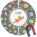 Space Explorer Round Fridge Magnet (Personalized)