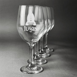 Space Explorer Wine Glasses (Set of 4) (Personalized)