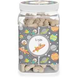Space Explorer Dog Treat Jar (Personalized)
