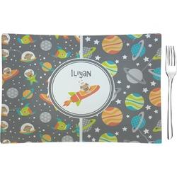 Space Explorer Rectangular Glass Appetizer / Dessert Plate - Single or Set (Personalized)