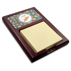Space Explorer Red Mahogany Sticky Note Holder (Personalized)