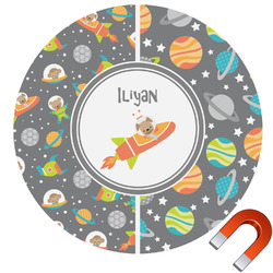 Space Explorer Car Magnet (Personalized)
