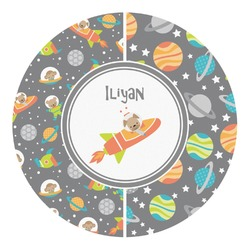 Space Explorer Round Decal - Custom Size (Personalized)