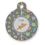 Space Explorer Round Pet Tag (Personalized)