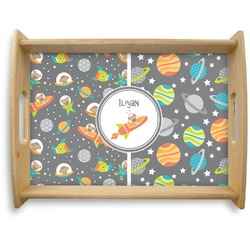 Space Explorer Natural Wooden Tray - Large (Personalized)