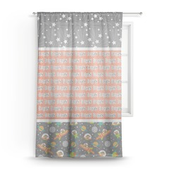 Space Explorer Sheer Curtains (Personalized)
