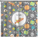 Space Explorer Shower Curtain (Personalized)