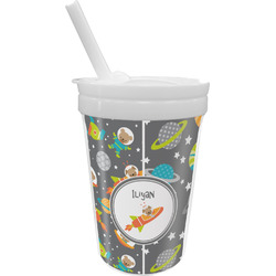 Space Explorer Sippy Cup with Straw (Personalized)