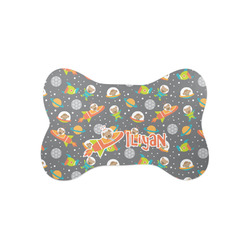 Space Explorer Bone Shaped Dog Food Mat (Small) (Personalized)