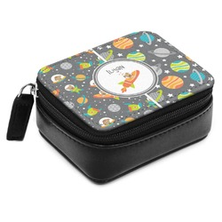 Space Explorer Small Leatherette Travel Pill Case (Personalized)