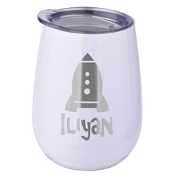 Space Explorer Stemless Wine Tumbler - 5 Color Choices - Stainless Steel  (Personalized)