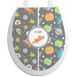 Space Explorer Toilet Seat Decal (Personalized)
