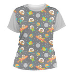Space Explorer Women's Crew T-Shirt (Personalized)
