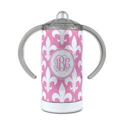 Fleur De Lis 12 oz Stainless Steel Sippy Cup (Personalized)