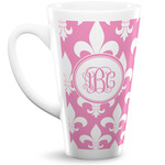 Fleur De Lis 16 Oz Latte Mug (Personalized)