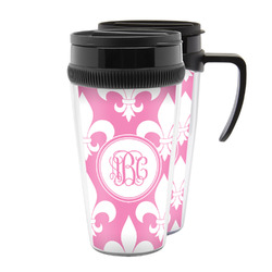 Fleur De Lis Acrylic Travel Mugs (Personalized)