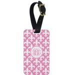 Fleur De Lis Aluminum Luggage Tag (Personalized)