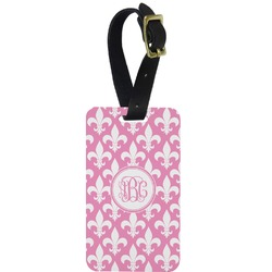 Fleur De Lis Aluminum Luggage Tag (Personalized)