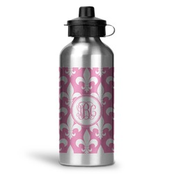 Fleur De Lis Water Bottle - Aluminum - 20 oz (Personalized)