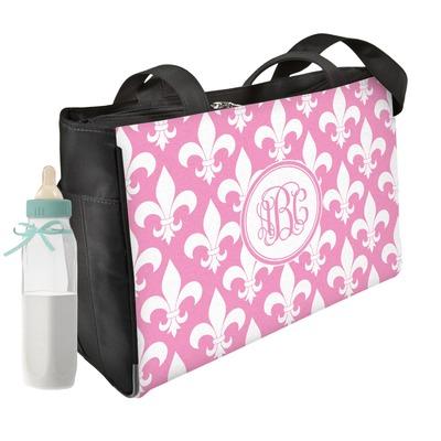 Fleur De Lis Diaper Bag w/ Monogram
