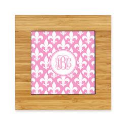 Fleur De Lis Bamboo Trivet with Ceramic Tile Insert (Personalized)