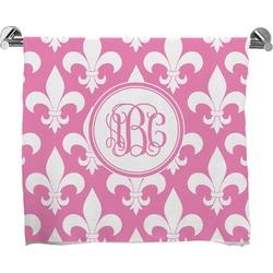 Fleur De Lis Full Print Bath Towel (Personalized)