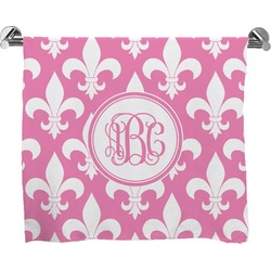 Fleur De Lis Full Print Bath Towel (Personalized)